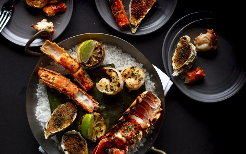 Global barbecue doesn't always mean meat: International Smoke's woodfired shellfish with miso butter and breadcrumbs is a stunning dish.