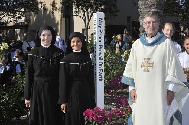 Sister Marie Pascal, Sister Gabriel Marie and Father Nick Dempsey