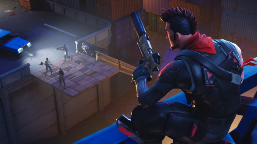 "Screenshot from a ""Fortnite"" video game."