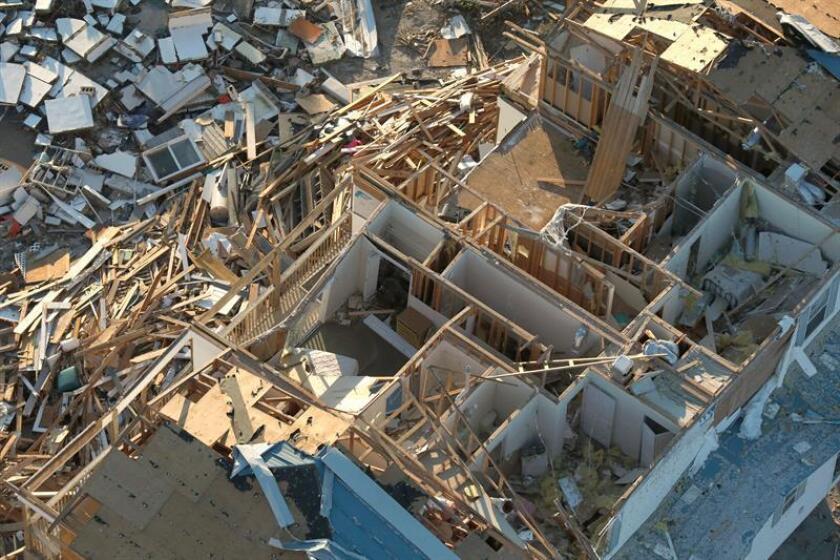 Fotografía aérea que muestra el destrozo ocasionado tras el paso del huracán Michael en Panamá City, Florida, EE.UU. EFE/GLENN FAWCETT / Customs And Border Protection SÓLO USO EDITORIAL? NO VENTAS
