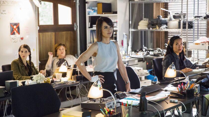 "Constance Zimmer in Lifetime's ""UnREAL."""