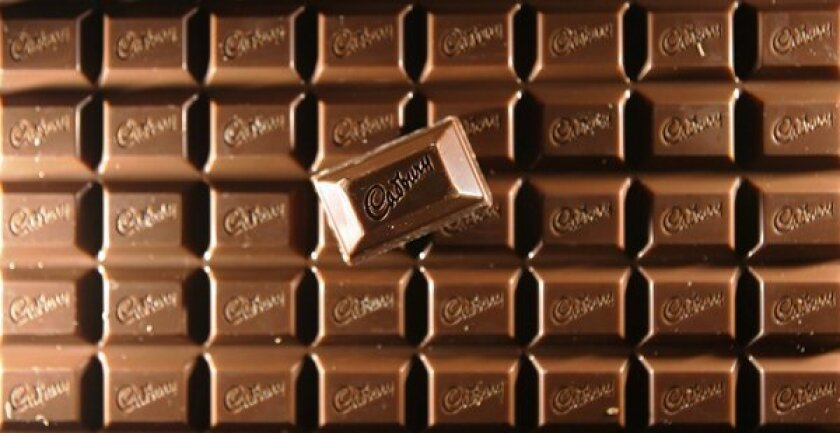 A patent application from Cadbury reveals non-melting chocolate innovation.