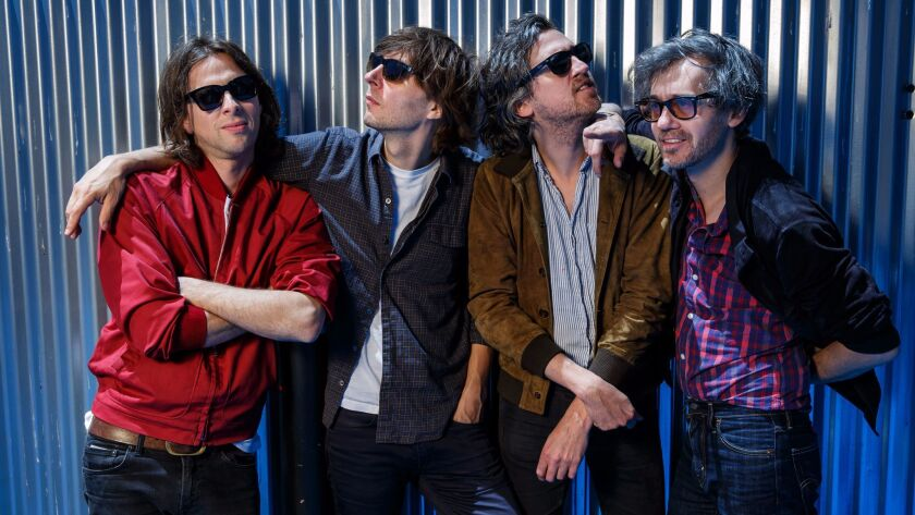 French pop band Phoenix -- Deck D'Arcy, left, Thomas Mars, Christian Mazzalai and Laurent Brancowitz -- in Los Angeles.