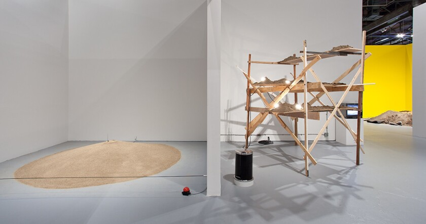 """Installation view of """"Ends of the Earth: Land Art to 1974"""" at the Geffen Contemporary at MOCA."""