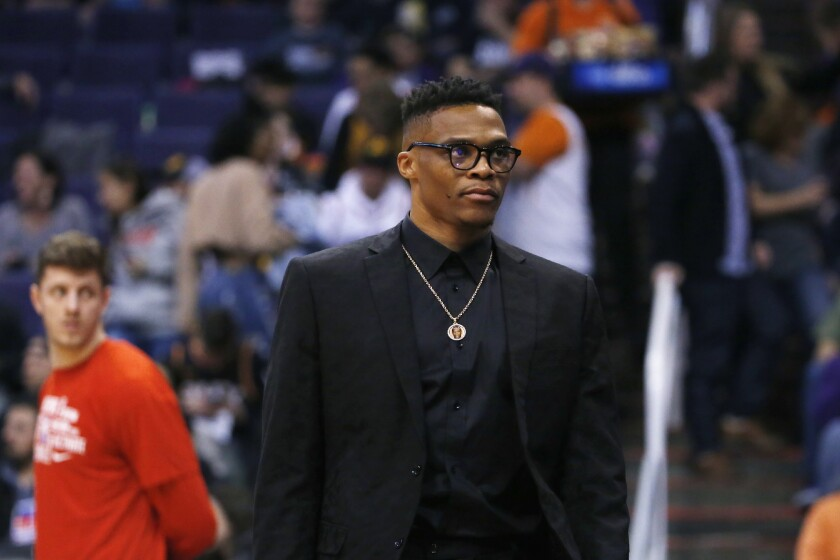 Houston Rockets guard Russell Westbrook shared on social media on Monday that he had tested positive for the coronavirus.