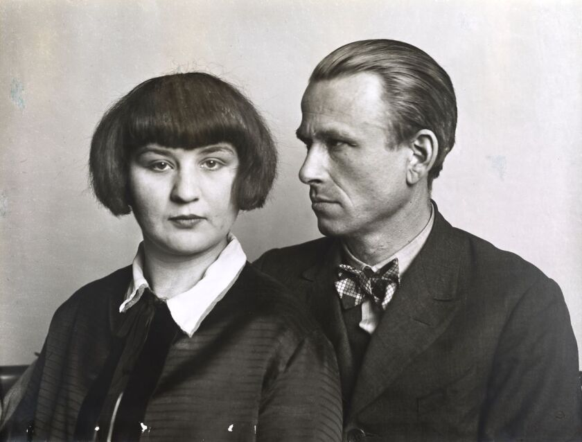 """The Painter Otto Dix and his Wife Martha,"" 1925-26, by August Sander."