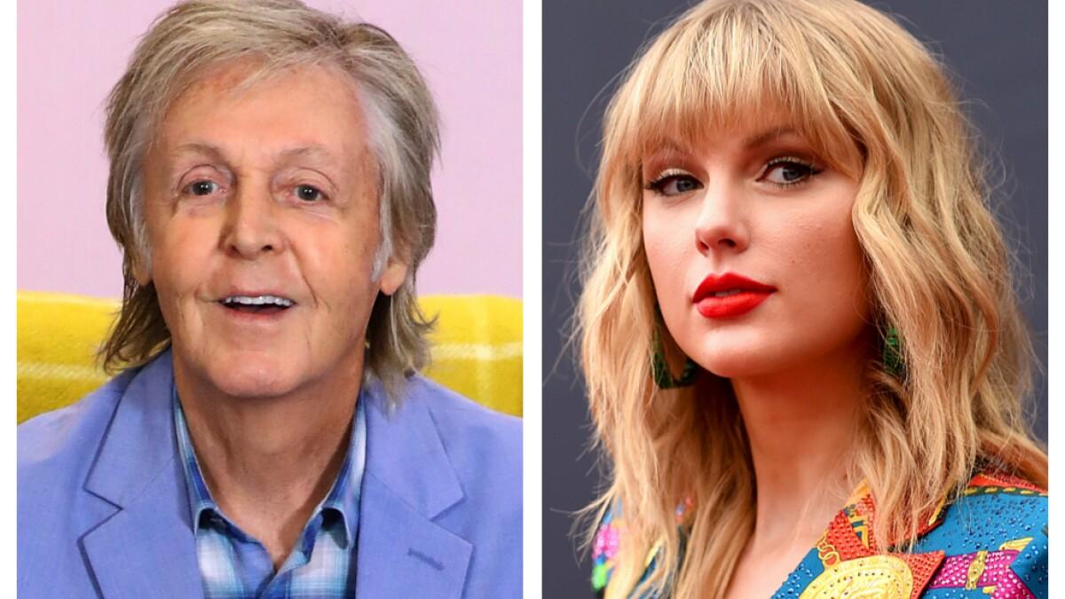 Taylor Swift Paul Mccartney Bond Over Making Art Amid Covid Los Angeles Times