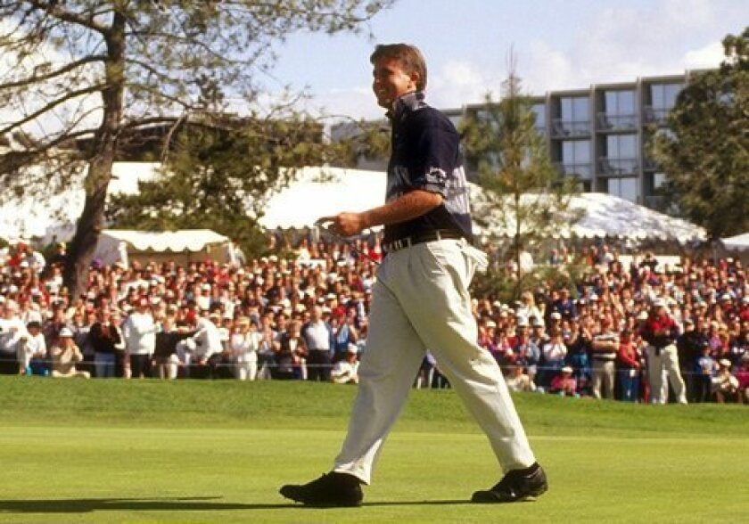 The hometown crowd watched Phil Mickelson win his first Buick Invitational in 1993.