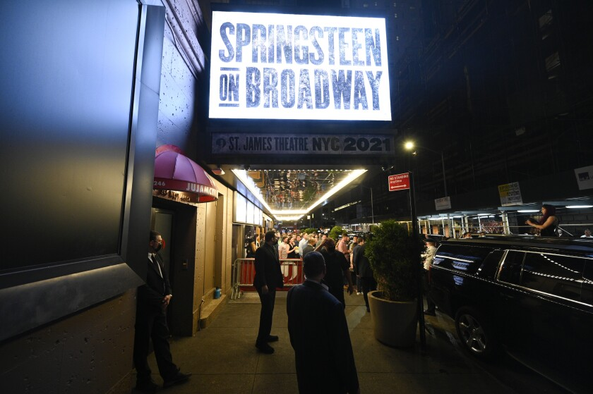 """""""Springsteen On Broadway"""" marquee"""