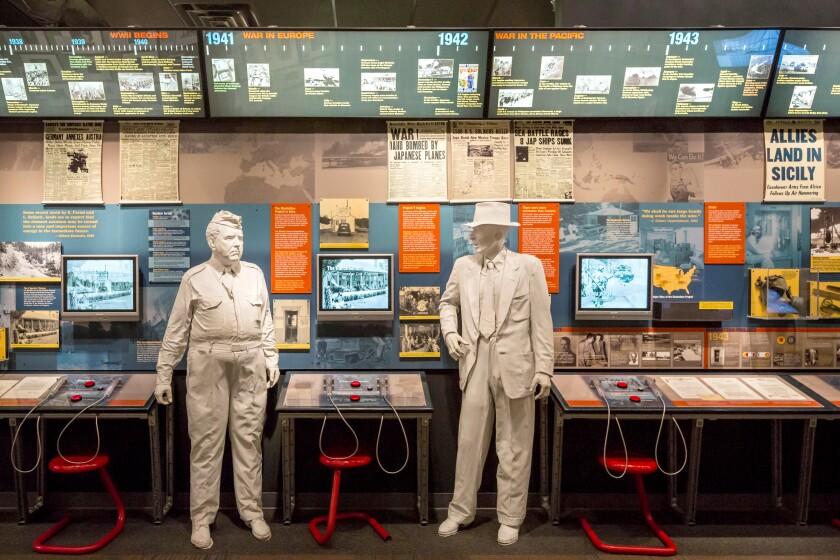 Los Alamos, New Mexico - The Bradbury Science Museum contains exhibits about Los Alamos National Laboratory.