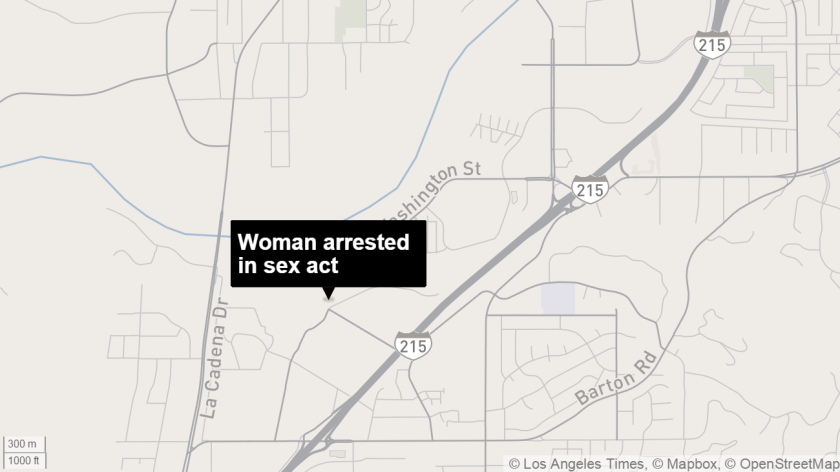 Woman arrested in sex act