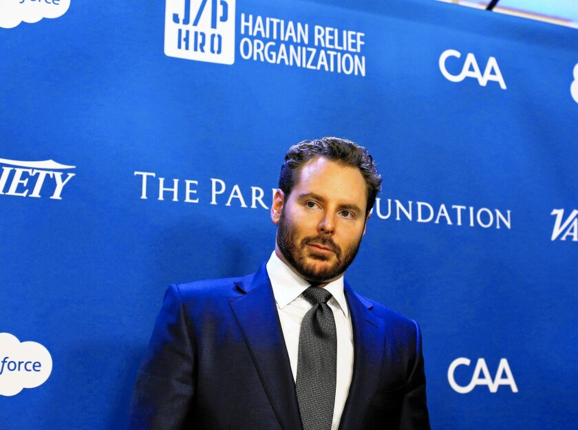 """Sean Parker arrives at the 5th Annual Sean Penn & Friends """"Help Haiti Home"""" gala in January at the Montage Hotel in Beverly Hills."""