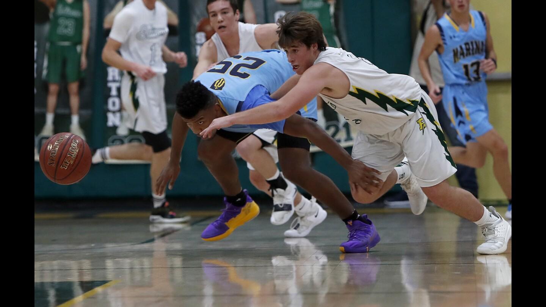 Photo Gallery: Edison vs. Marina in boys' basketball