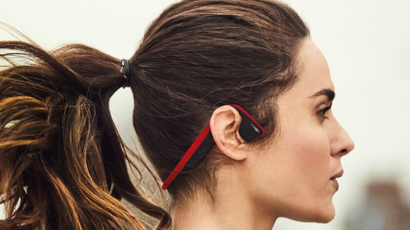 Trekz Titanium, $99.95 at AfterShokz.com. are wireless, Bluetooth headphones that utilize bone condu