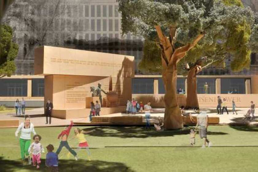 The proposed Dwight D. Eisenhower Memorial to be built in Washington.