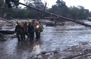 Deadly flooding on Santa Barbara coast as fire turns to mud