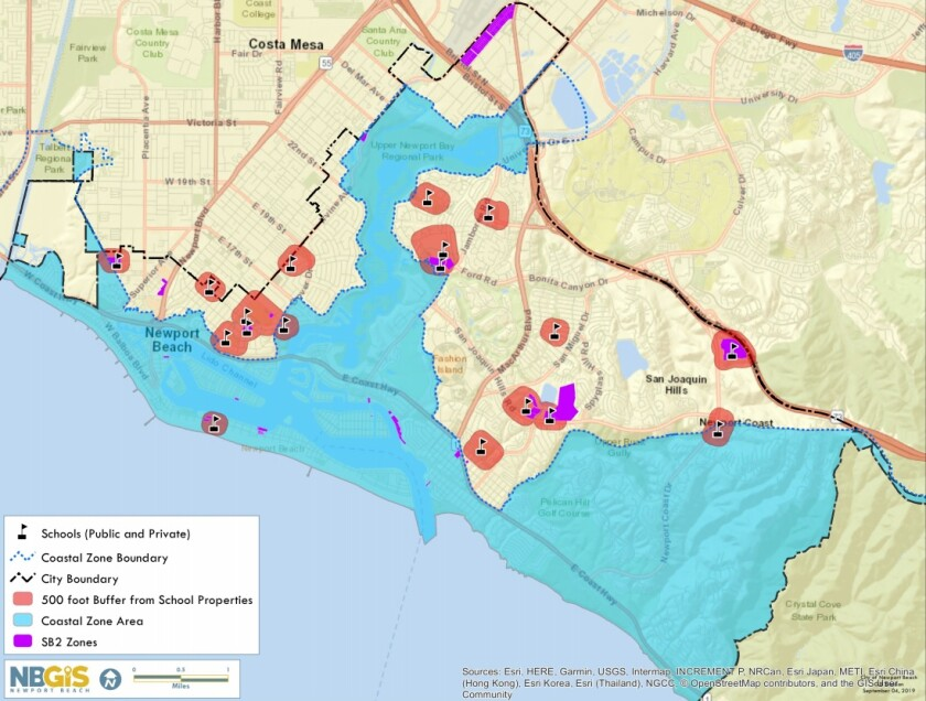 Newport shelter exclusion map