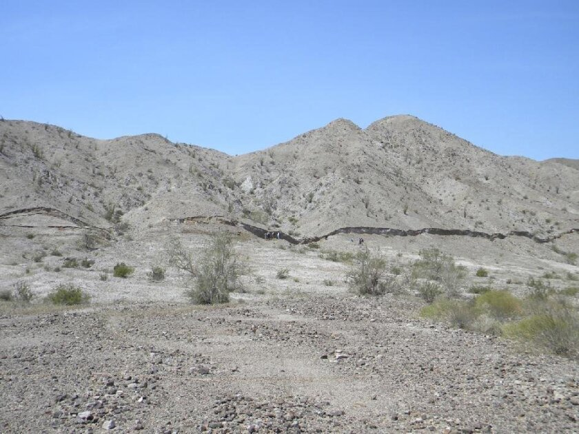 This five-foot-high surface rupture, called a scarp, formed in just seconds along the Borrego fault during the magnitude 7.2 El Mayor Cucapah earthquake in northern Baja California on April 4, 2010. Topographic surveys of the surrounding landscape reveal the complexity of earthquake deformation, in