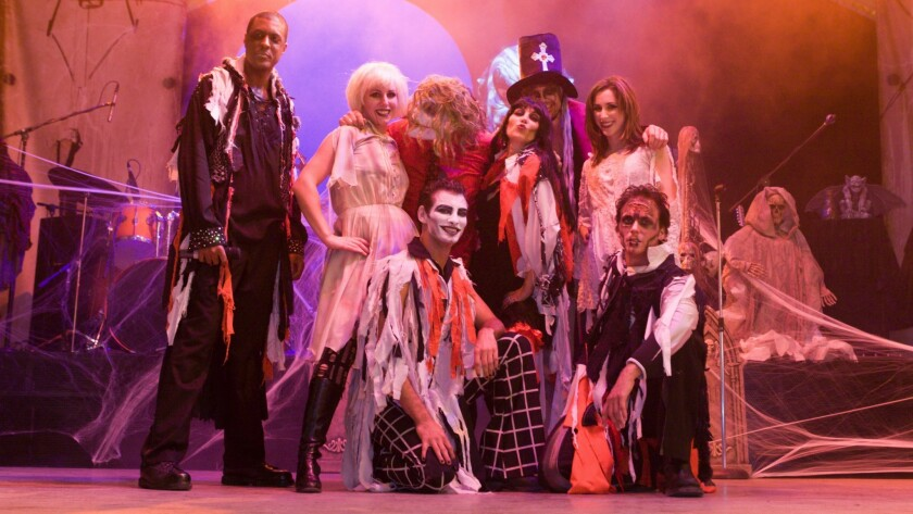 Wearing creepy costumes and makeup, Frank & the Steins entertain nightly in downtown Las Vegas with a repertoire of Halloween's greatest hits.