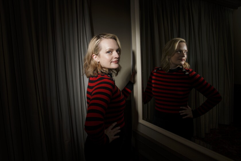 Actress Elisabeth Moss stands for a portrait at the Four Seasons Hotel on Monday, April 3, 2017 in L