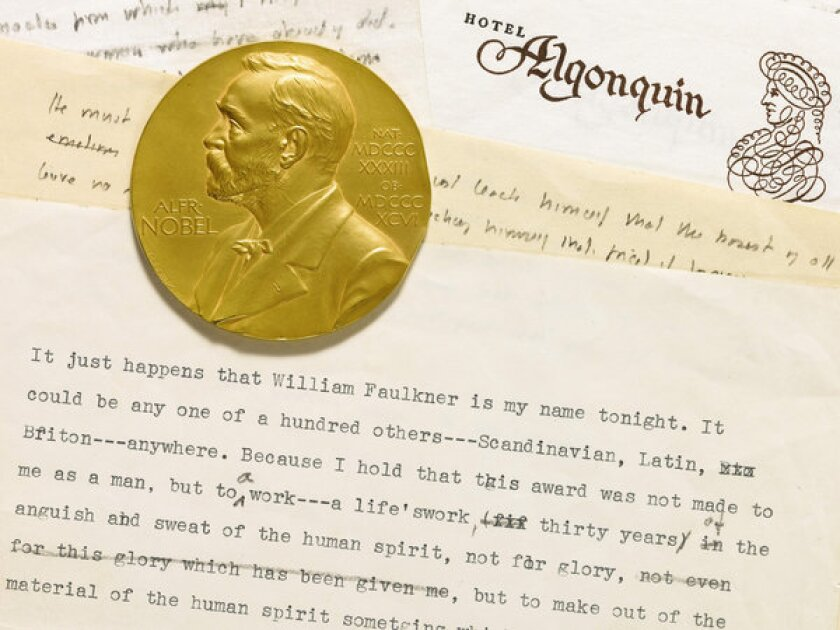 For sale, one Nobel Prize in literature: The Faulkner auction