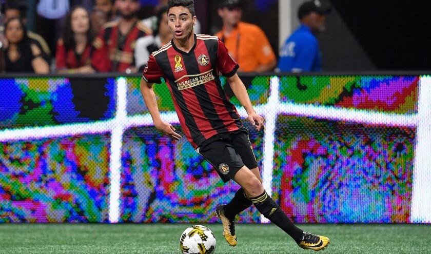 El volante paraguayo Miguel Almirón fichó con Newcastle procedente del Atlanta United.