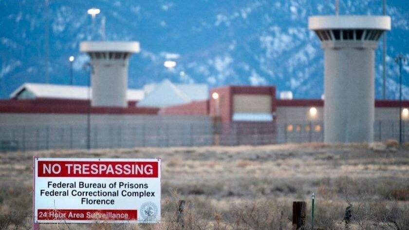 A view of the so-called supermax federal prison outside Florence, Colo., on Feb. 13.