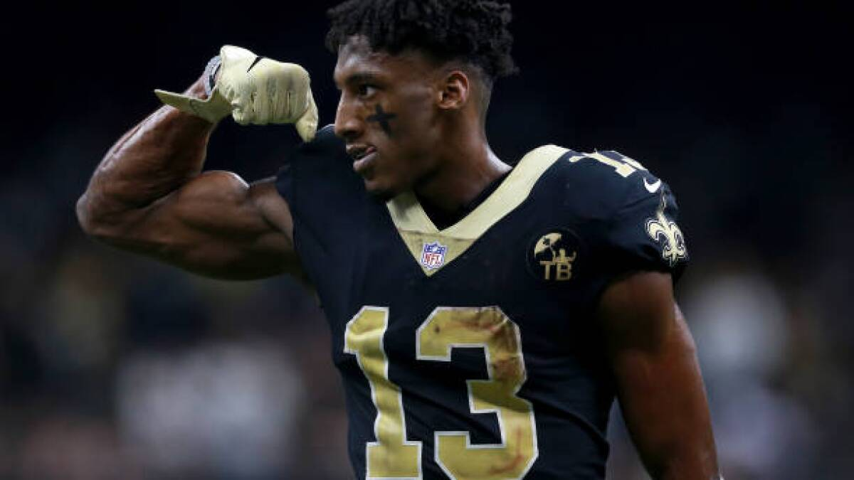 new style c9bd7 2e5cb Michael Thomas and Saints agree on a five-year, $100-million ...