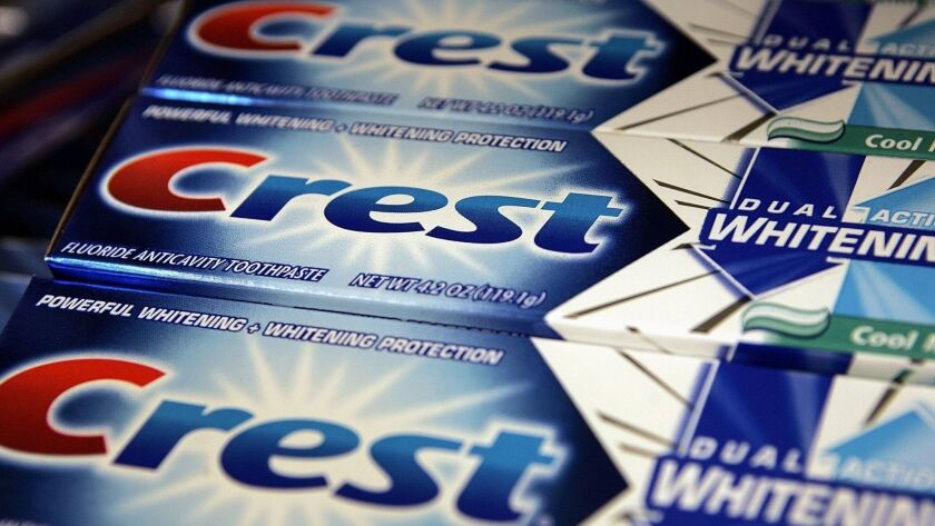 Crest toothpaste is one of Procter & Gamble's many consumer brands.