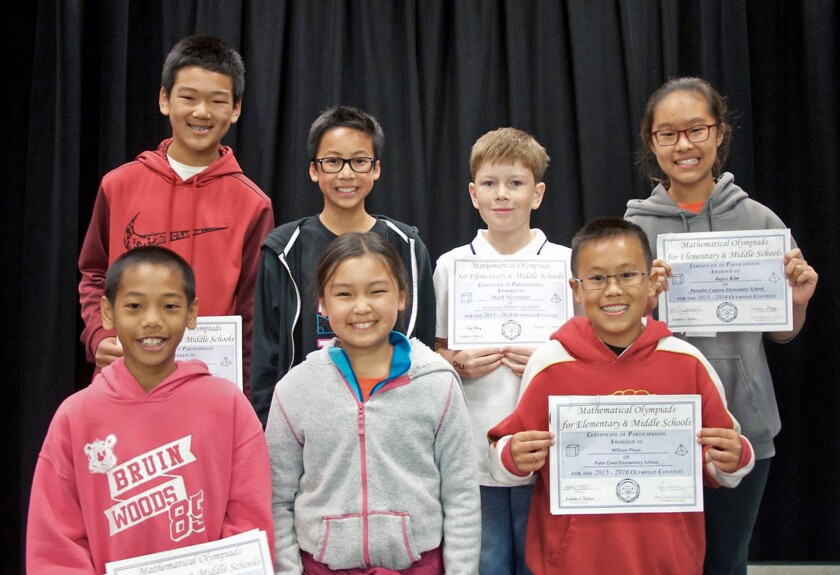 La Cañada Unified 'Mathletes' honored at first-ever Math Awards