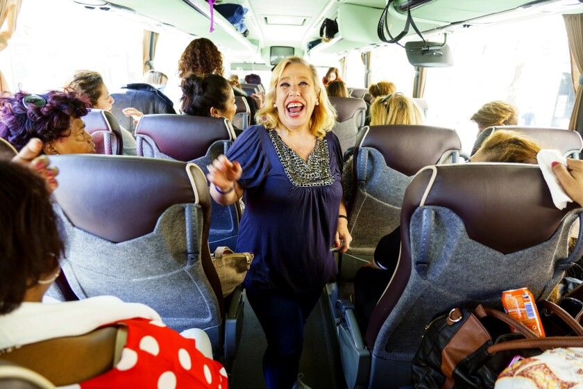 Women in Spain have paid $23 to ride on la caravana de mujeres, a private bus that takes single women from Madrid to small, rural towns for an evening of food, drink and dance with local farmers.