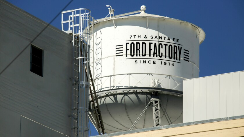The building, where Ford factory workers began assembling Model T cars a century ago, will become home to the world's third-largest music company.