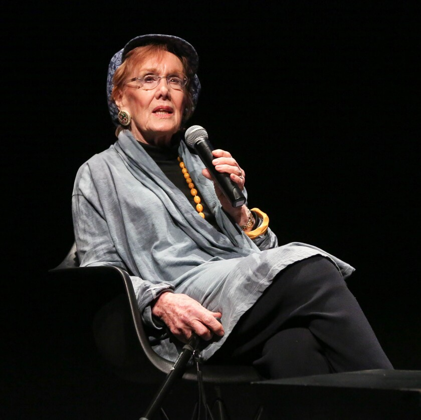 "Marni Nixon in 2015, at a special archival screening of ""The Sound of Music"" at the Museum of the Moving Image in New York."
