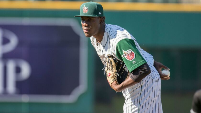 The Padres acquired right-hander Enyel De Los Santos from the Mariners in the Joaquin Benoit trade. De Los Santos started 2016 at low Single-A Fort Wayne.