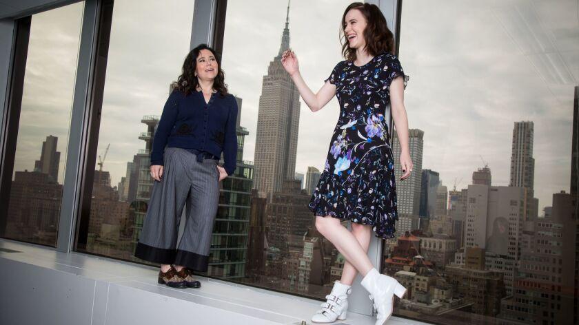 "Alex Borstein and Rachel Brosnahan stars of the Amazon series ""The Marvelous Mrs. Maisel."""