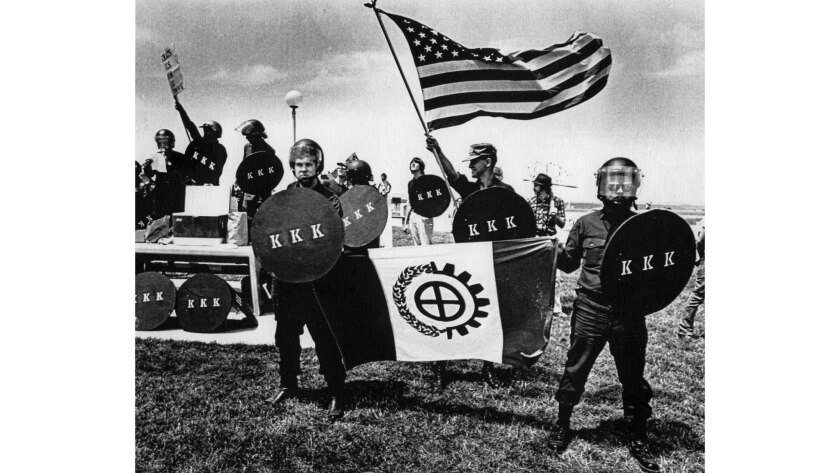 July 4, 1979: Members of the Ku Klux Klan hold a rally at Boarder Field State Park in Imperial Beach