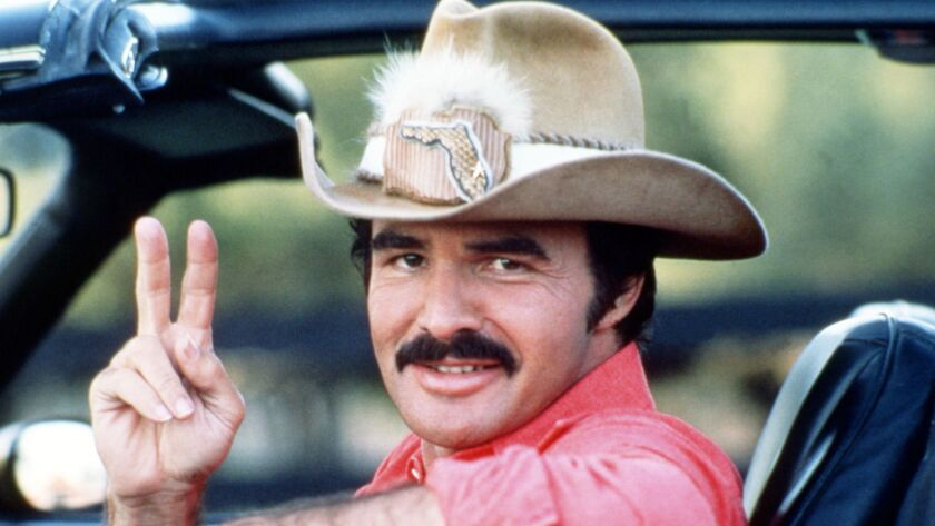 "Burt Reynolds as Bo ""Bandit"" Darville in 1977's ""Smokey and the Bandit."""