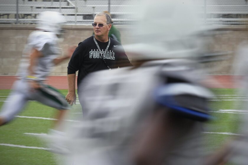Oceanside football coach John Carroll spent two nights at Tri-City Medical Center.