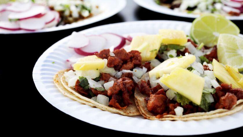 Al pastor tacos from Leo's Tacos.