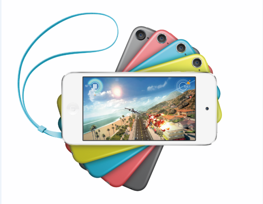 Apple's iPod Touch comes in five colors, and now a lower price.