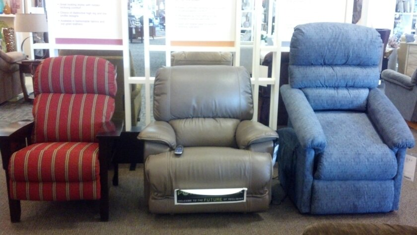 These recliners are among the pieces on display at the new San Marcos showroom of La-Z-Boy, which will hold a grand opening Saturday, Sept. 1, 2012.