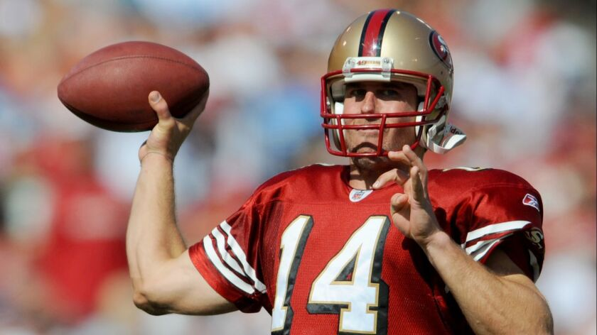 New Patrick Henry High coach JT O'Sullivan was quarterbacking the San Francisco 49ers in 2008.