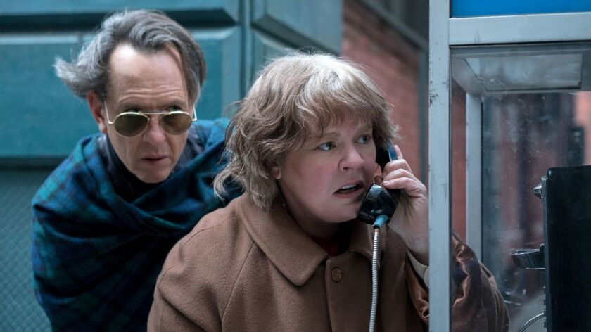 "Richard E. Grant and Melissa McCarthy in the film ""Can You Ever Forgive Me?"""