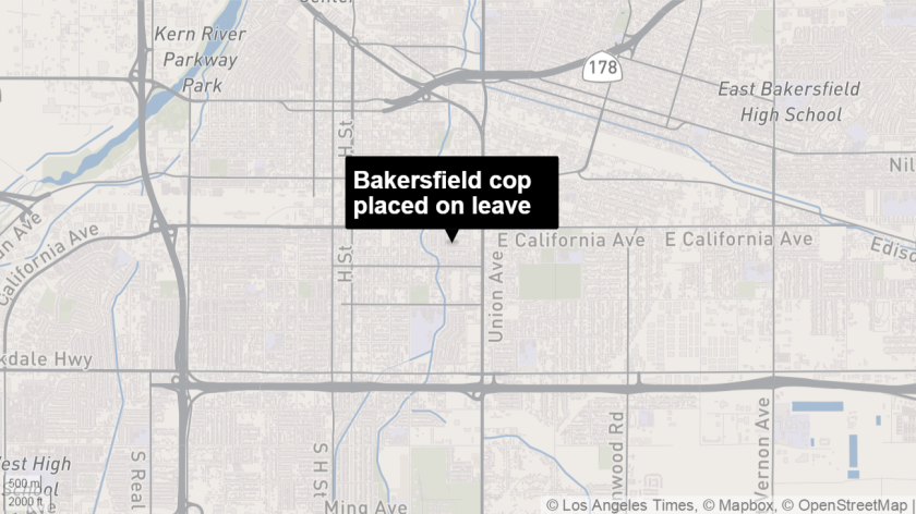 A Bakersfield police officer has been placed on leave after allegedly tickling a corpse.
