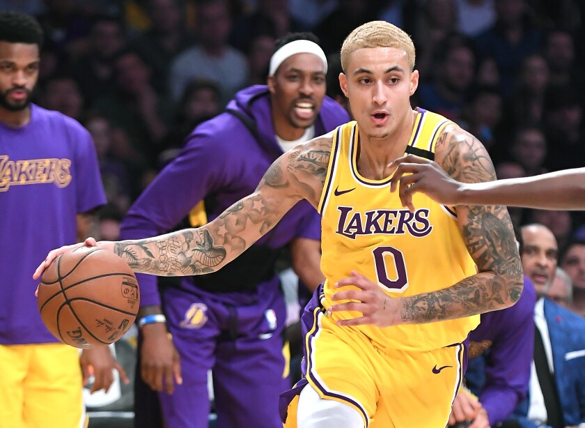 Kyle Kuzma's scoring average is down nearly seven points a game from last season.