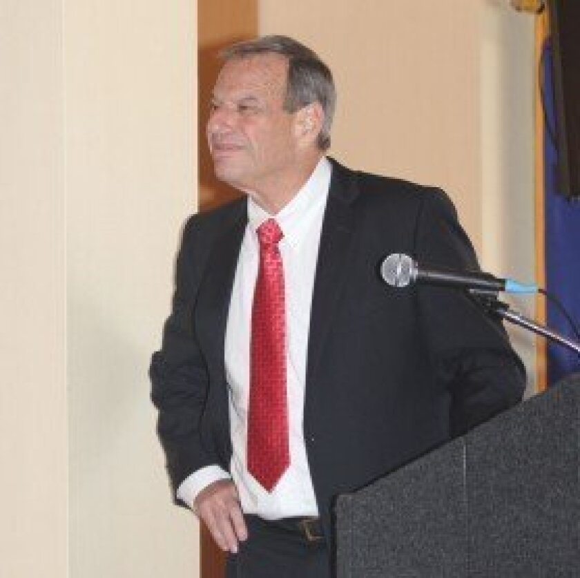 Bob Filner, speaking at an event in La Jolla during his short-lived time as San Diego's mayor.