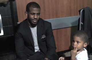 Chris Paul's son tells Tim Duncan where he wants to go to college