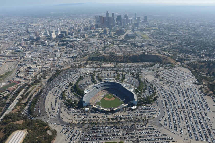 The Los Angeles Dodgers will play the San Francisco Giants on Friday in for their sold-out home opener.