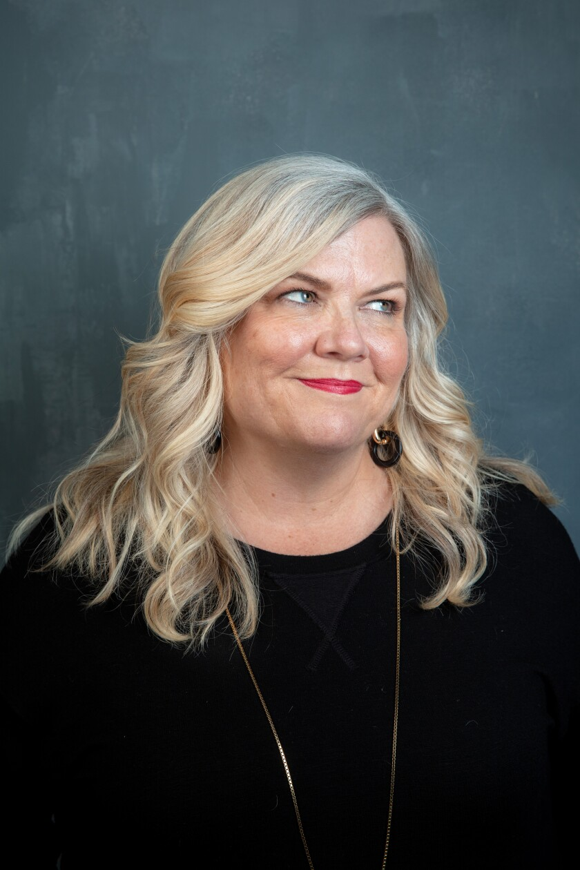 """Former """"SNL"""" head writer Paula Pell in 2019. She's now starring as a Jessica Fletcher type in Quibi's """"Mapleworth Murders."""""""