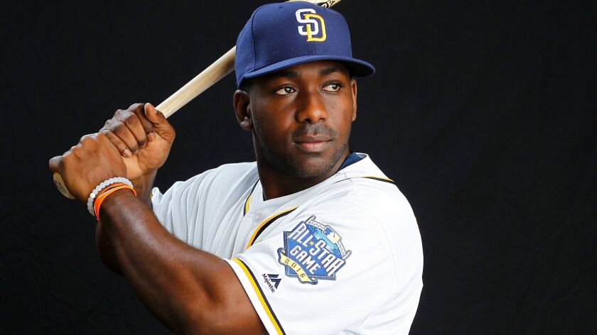 PEORIA, AZ -FEB 26, 2015 - | San Diego Padres infielder Jose Pirela. | Photographed during photo day
